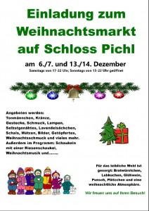 weihnachtsmarkt flyer